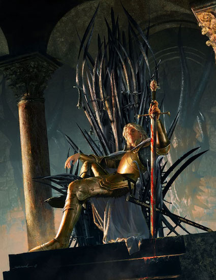 Jaime Lannister on the Iron Throne