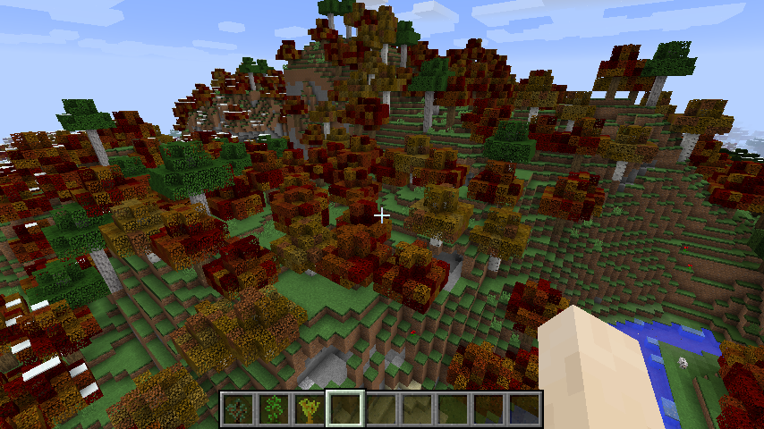 Autumn leaves in Primalcraft